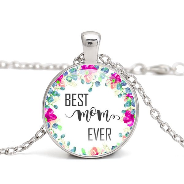 Mother Quotes Necklace Glass Cabochon Pendant Necklace Mothers Day Gift Anniversary Antique Charm Women Jewelry Handmade Necklace