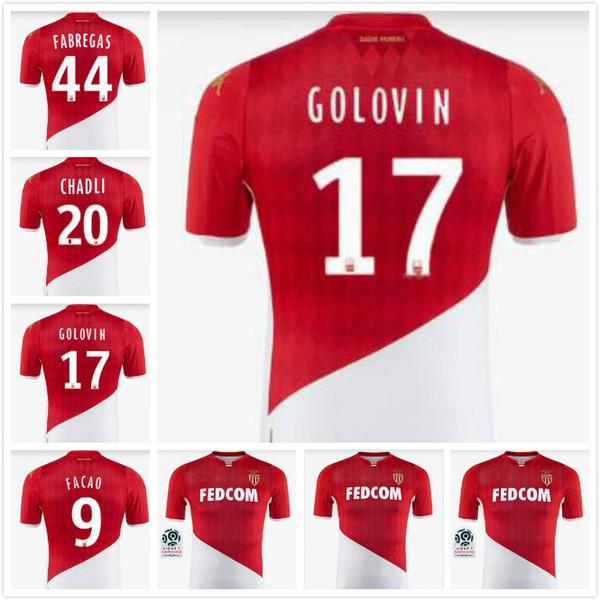 2019 2020 Maglia maglie da calcio casa AEREO 19 20 Monaco 9 FALCAO 25 GLIK 11 CARRILIO 5 JEMERSON Maglia da calcio Camisetas Kit Maillot de foot
