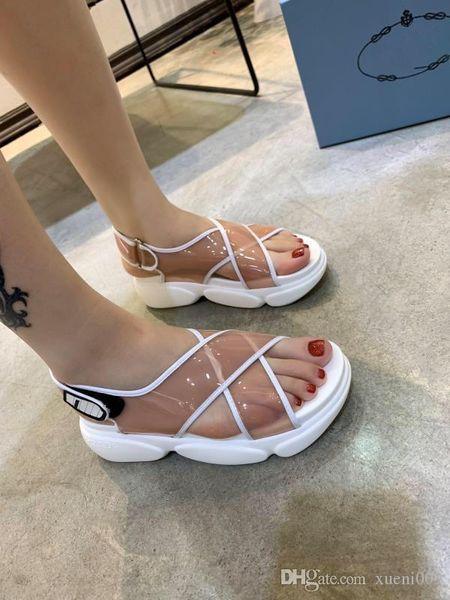 2019 Rihanna Leadcat Suede Slippers Sandalias de diseño Slide Luxury Summer Fashion Wide Flat Slippery Sandals Slipper Flip Flop zh19041911
