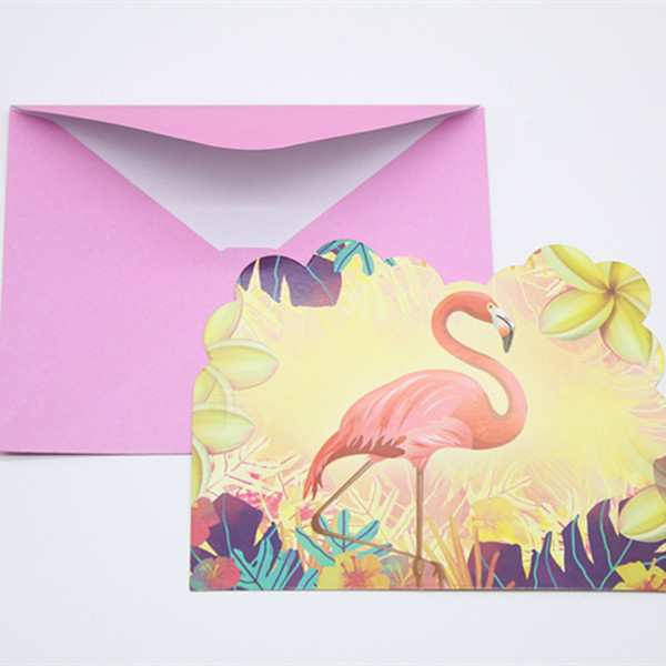 Flamingo Party Birthday Party Wedding Invitation Card Baby Shower Decorating Happy Birthday Children Printable Cards Romantic Birthday Cards From