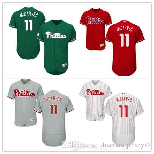 2019 Phillies Jerseys #11 Tim McCarver Jerseys men#WOMEN#YOUTH#Men's Baseball Jersey Majestic Stitched Professional sportswear