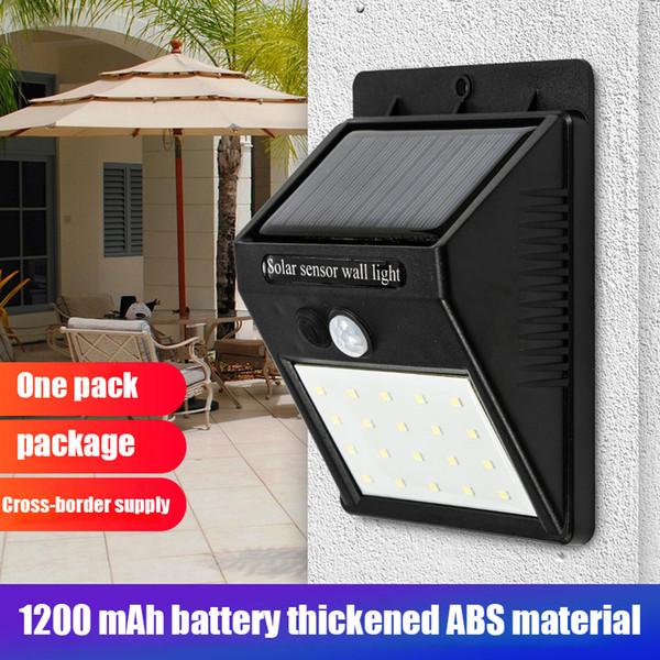 Sensor de Luz de pared LED de energía solar del movimiento de PIR 20 LED impermeable al aire libre de la calle Camino de ahorro de energía de la lámpara de seguridad Yard Inicio Jardín