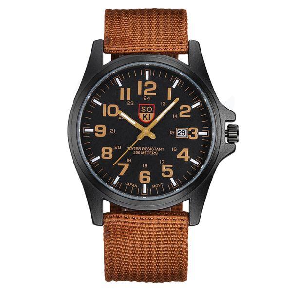 Reloj Mujer Fashion Men's Watches Women Top Brand High Quality Nylon Belt Calendar Quartz Wrist Watch erkek kol saati