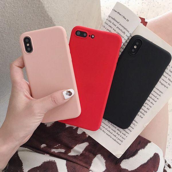 Ultrafino Silicone Líquido Gel de borracha à prova de choque para o iPhone 11 pro XR XS XS max 7 7plus Samsung S9 S8 S9 S10 mais Huawei P30 pró LTTE