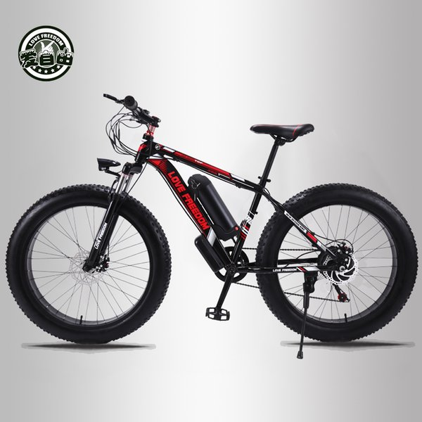 top popular wholesale 24 speed Mountain Bike Electric Bicycle 36V 350W 10.4Ah 26X4.0 Electric Vehicle 48 Pay 500 Watt Motor 2020