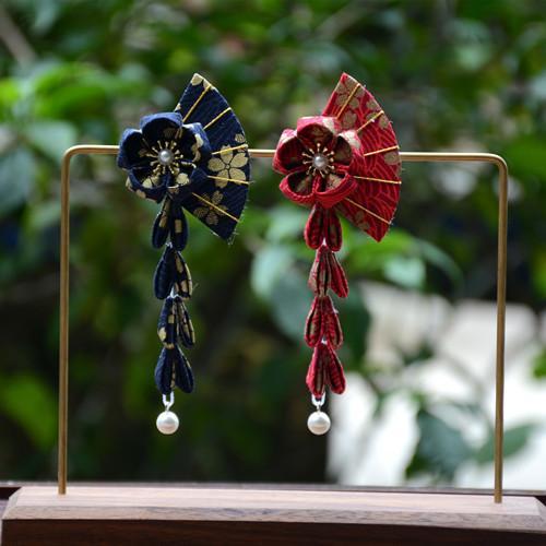 Manuel ve rüzgar fan püskül saç klipleri, Bahşiş çiçek joker kimono bornoz resimli çünkü