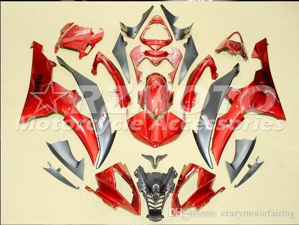 4 Free Gifts New Injection ABS Fairing kits 100% Fit for YAMAHA YZFR6 08 09 10 11 12 13 14 15 YZF R6 2008-2015 YZF600 set Red Black Q2