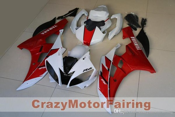 3 Free gifts New Injection ABS Fairing Kits 100% Fitment For YAMAHA YZF-R6 06-07 YZF600 2006 2007 R6 bodywork set red white color