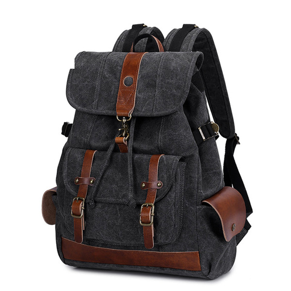 2019 New Backpacks For Men School Bag Canvas Laptop Travel Backpack Waterproof School Bags For Teenage Boys