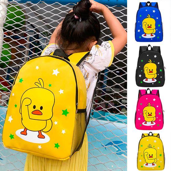 2019 nouvelle arrivée de bande dessinée mignon élève de maternelle sac d'animation animation petit canard garçons et filles sac Dropshipping 20 Bolso de moda