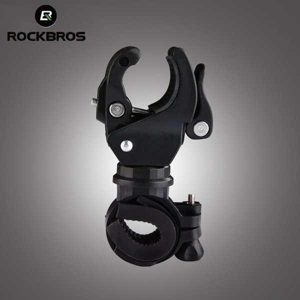 ROCKBROS 7 DESIGNS Wholesale Bike Bicycle Cycling Grip Mount Clamp Clip Flashlight LED Torch Lamp Light Bracket Stand Holder #213804