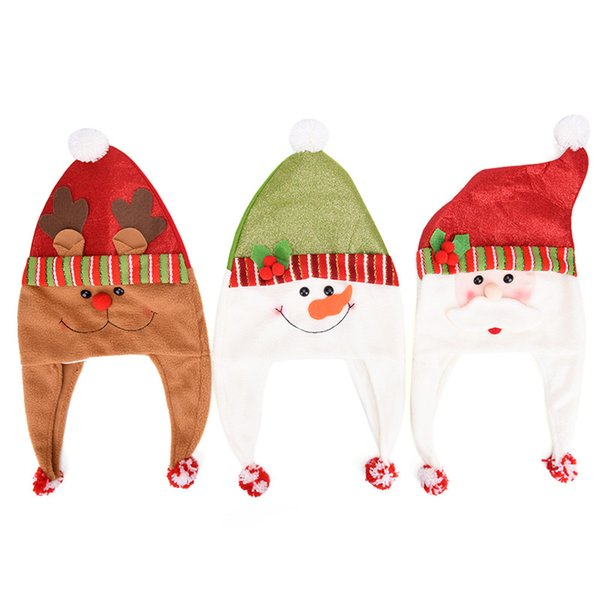 Santa Claus Cartoon Cap Thickened Hat Christmas Hats Children Clothing Family Xmas Party Supplies christmas decorations for home