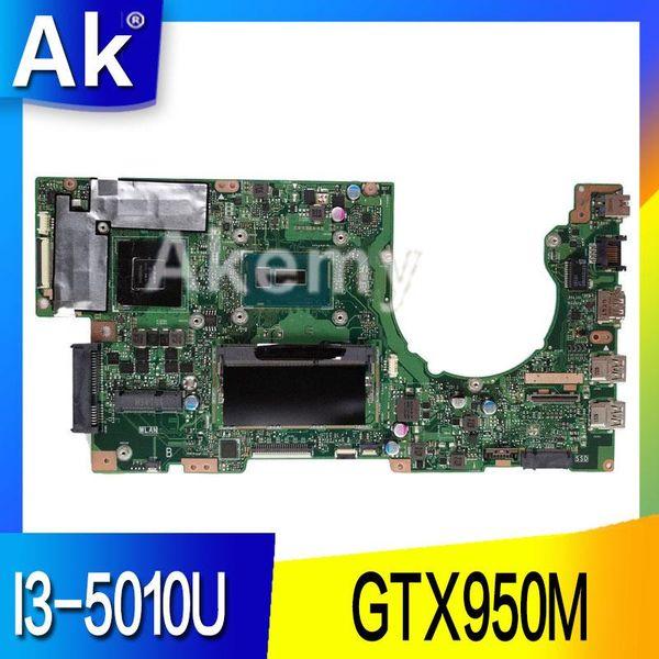 AK K501LX Laptop Motherboard für ASUS V505L K501LX K501L K501 Testen Sie das Original-Mainboard 4G RAM I3-5010U GTX950M