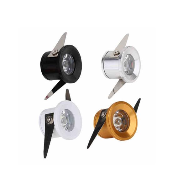 """best selling Micro Mini Down Light LED Fixture (110-240VAC) - 1.25"""" Diameter - 1 Watt Cool White LED Down Light for Home, Cabinet, Task Lighting"""