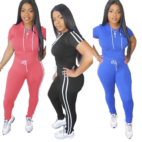 Letters Print Women Tracksuit Hooded T Shirt+ Pants Legging Summer Outfits Fashion Short Sleeve Joggers Set S-2XL Casual Sport Suit A3195