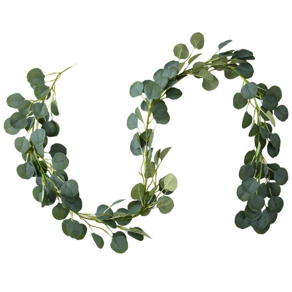 Christmas Greenery Images.2019 Faux Eucalyptus Garland 6ft Leaves Christmas Greenery Garland For Wedding Backdrop Centerpiece Decor From Meetyou520 12 57 Dhgate Com