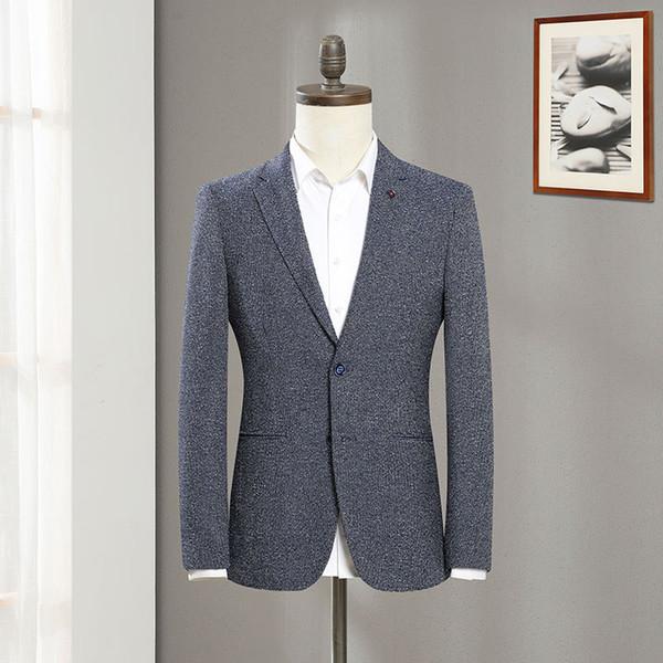 2020 erkek iki düğmeli takım elbise genç moda eğlence takım elbise Güz