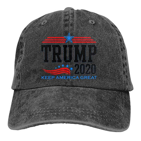 2019 New Wholesale Baseball Caps Keep America Great President Trump for 2020 Mens Cotton Adjustable Washed Twill Baseball Cap Hat
