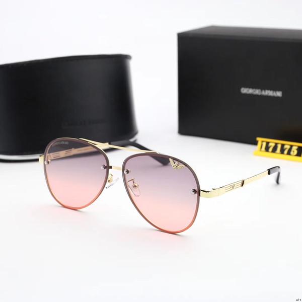 Best quality Brand Designer Fashion Txrppr Gold Frame Blue Mirror Pilot Sunglasses For Men and Women UV400 Sport Sun glasses With box