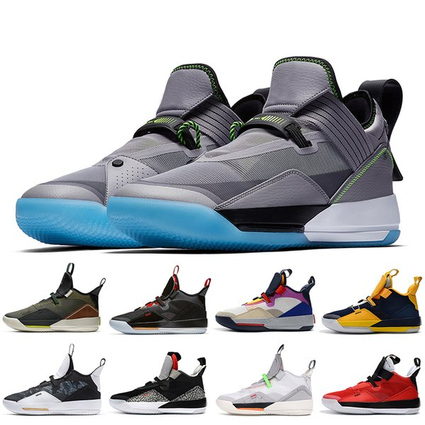 New Fashion Jumpman 33s XXXIII Basketball Shoes Breathable SE Cement Grey CNY Travis Scotts Tech Pack Guo Ailun Mens Trainers Sneakers