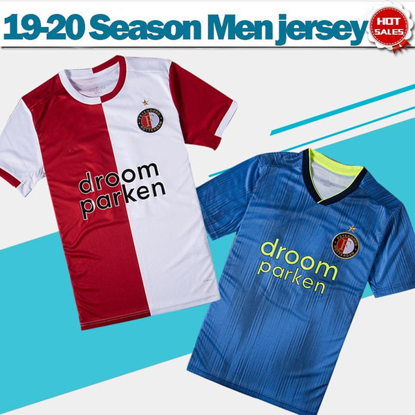 2020 Feyenoord Rotterdam Soccer Jerseys # 32 V.PERSIE accueil rouge blanc 19/20 # 9 JORGENSEN away blue Maillots de football Uniformes de football en vente