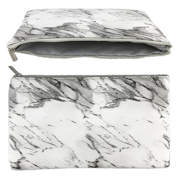 de077f128e80 PU Leather Cosmetic Bag Make Up Marble Portable Ladies Travel Case Makeup  Brushes Organizer Storage Pouch Toiletry Wash Kit Bags Professional Makeup  ...