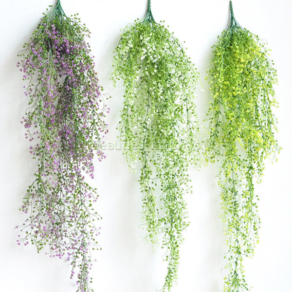 Artificial Long Hanging Vine Plant Wall Fake Ivy Leaf Green Rattan Home Garden Decoration 115 cm Free Shipping