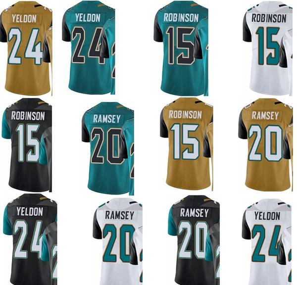 8eafaeef Custom Jacksonville Men/Youth/Women#15 Allen Robinson 20 Jalen Ramsey 24  Yeldon Jaguars/Rush/Elite Jersey Print Shirt Long Sleeve Tee Shirts From ...