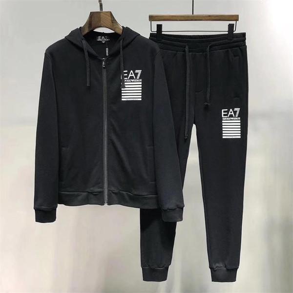 AA2019 Medusa sportswear men's full zipper men's sports suit men's sweatshirt set and pants Medusa sportswear