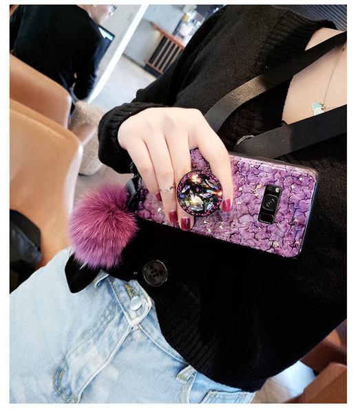 Estilo de la diosa cubierta de lámina de oro para Samsung S10E rhinstone diamante para Samsung 10 caso brazalete titular de anillo de dedo diseñador de teléfono del caso