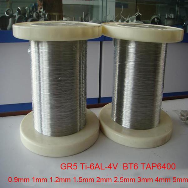 0.9mm 1mm 1.2mm 1.5mm 2mm 2.5mm 3mm 4mm 5mm Grade 5 high-purity Titanium wire gr5 Ultrafine pure ti wires Ti-6AL-4V BT6 TAP6400