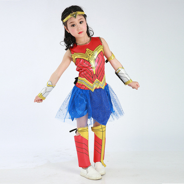 Halloween Costumes Wonder Woman New Costume Girl Kids Sexy Dress Cartoon Character Costumes Clothing Halloween Costumes