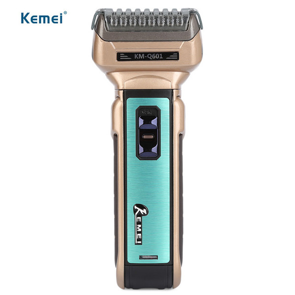 Kemei Reciprocating Electric Shaver Travel Use Safe Razor For Men Removable Head Three Blades Electric Shaver Free Shipping KM-Q601 BB