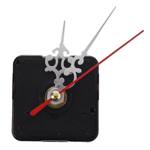 Clock Movement Mechanism with Silver Hour Minute Red Second Hand DIY Tools Kit
