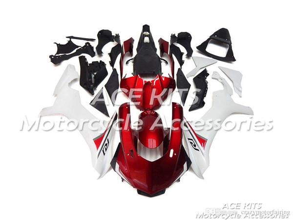ACE KITS Carenado de motocicleta para YAMAHA YZF R1 2015-2016 Inyección o Compresión Carrocería asombroso rojo blanco NO.2231