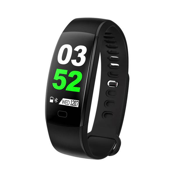 Inteligente Pulseira de Fitness Homens Tela Colorida IP68 Monitor de Freqüência Cardíaca À Prova D 'Água Pressão Arterial Pulseira Banda inteligente para Android IOS