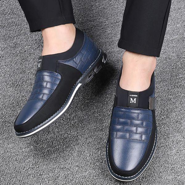 Men oxford shoes Plus Size 48 Slip On Breathable Business Formal dress men shoes Wear resistant Non slip Leather shoes men