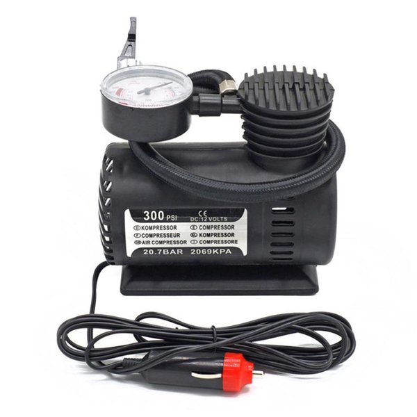 new 1pc 300psi c300 12v mini air compressor auto car electric tire air inflator pump high quality