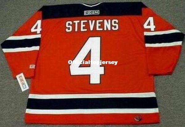custom Mens SCOTT STEVENS New Jersey Devils 2003 CCM Away Cheap Retro Hockey Jersey