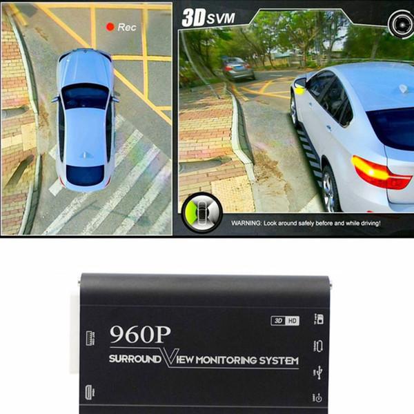 360 Sistema di monitoraggio Surroundview 3D per auto Sistema di visualizzazione Bird View 4 Videocamera DVR Dash Videocamera HD 1080P Monitoraggio parcheggio Monitoraggio