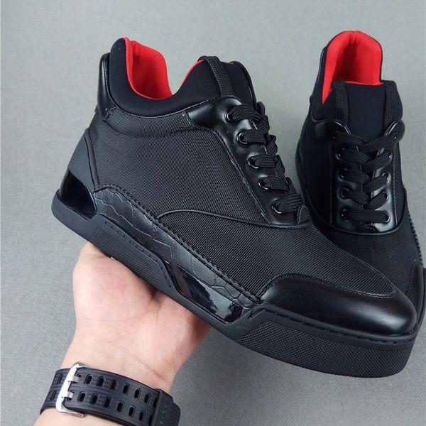 Nova sapatilha designer Oxford com qualidade superior Homem sapatos de fundo vermelho couro real preto homem vermelho alta top Paris sapatos casuais 38-45