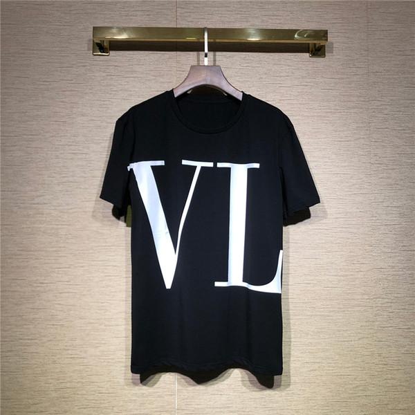 Maglietta del progettista Maglietta degli uomini con le lettere di marca Magliette di marca Maglietta di lusso manica corta di lusso Abbigliamento da uomo T-shirt S-XL