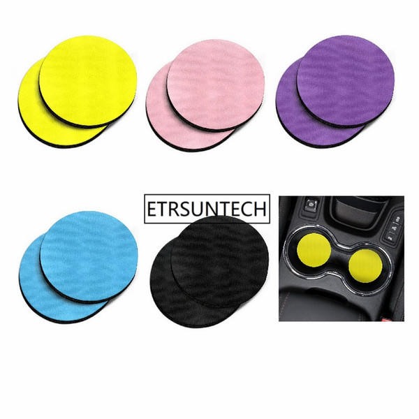 120Pcs Solid colors Absorbent ROUND Fabric Felt Neoprene Car Coasters for Drinks House Warming Presents Bars Table Decor