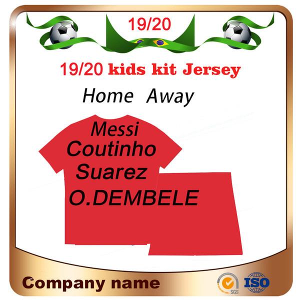 2020 # 10 MESSI Kids kit calcio domestico Jersey 19/20 # 9 SUAREZ # 7 shirt COUTINHO Bambino calcio # 11 O.DEMBELE # 14 uniformi di calcio COUTINHO