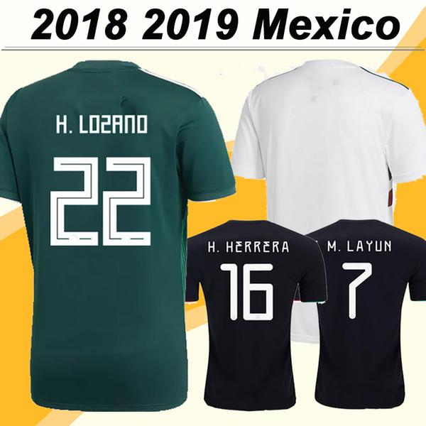 2018 Mexiko CHICHARITO H. LOZANO Fußball-Trikots GUARDADO Home Fußball-Trikots für Herren 2019 Nationalmannschaft JIMENEZ H. HERRERA LAYUN