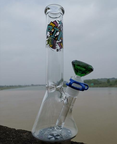 BONG! Glas Wasserpfeife Becherglas Bong mit Quarz Banger oder Schüssel Disk Bong Verschiedene Hitman Glas Wasserpfeife Glas Bong Ölanlage