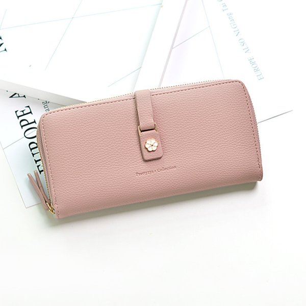 New Women Wallet Fashion Flowers Zipper Hasp Purse Leather Long Clutch Bags Money Coin Card Holders Wallet Big Capacity Wallets