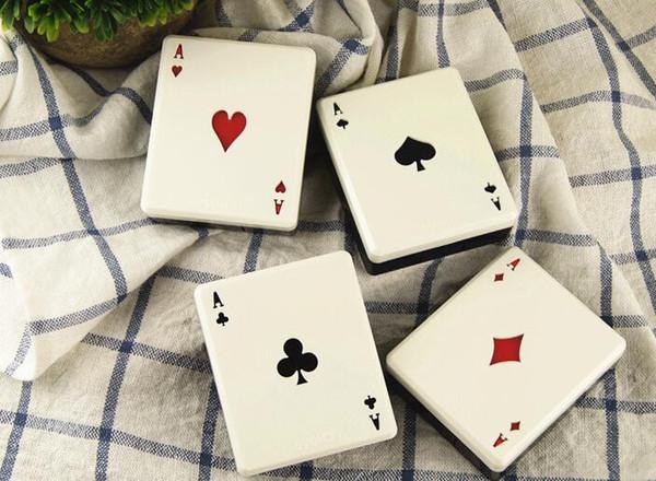 clubes de cartão de poker bonito diamantes corações Uma caixa de lentes de contato para lentes recipiente caixa para óculos