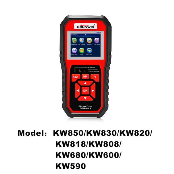 KONNWEI Brand ODB2 Auto Diagnostic Scanner Full Function Car Diagnosis Universal Engine Code Reader KW600 KW830 KW680 KW590 KW818 KW820 etc.