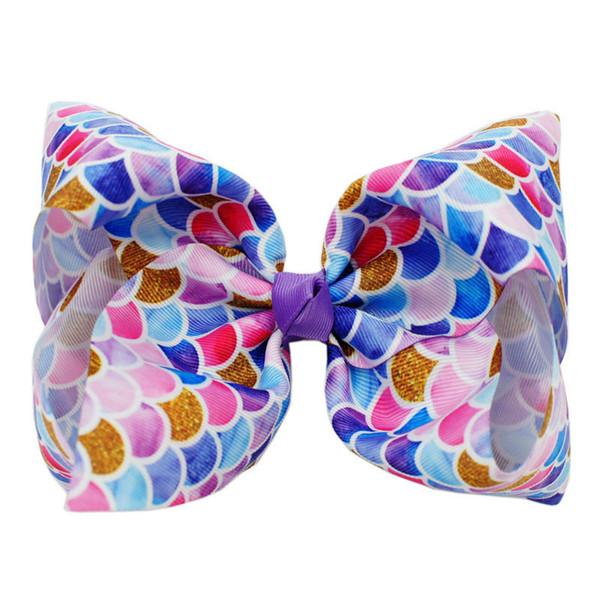 New doughnut jojo siwa girls hair clips Mermaid jojo siwa bow kids barrettes Cartoon baby BB clips designer hair accessories for kids A6389